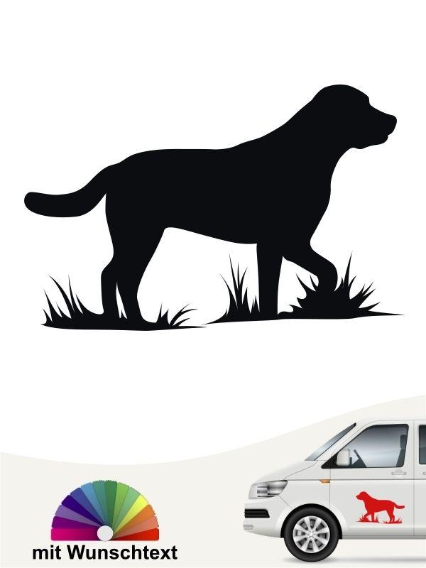 Labrador Retriever 1c Aufkleber Mit Eigenem Text Labrador Auto Aufkleber Labrador Retriever