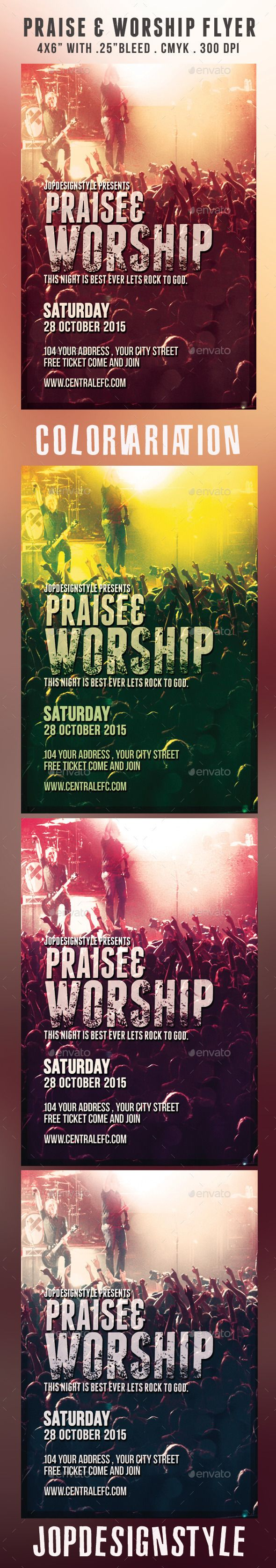 best images about top church flyer template praise and worship flyer