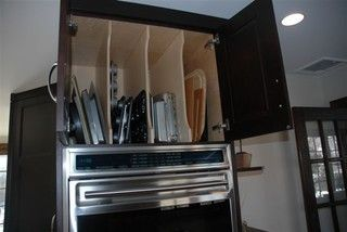 Great Idea for baking sheets, baking pans, and cooling racks.