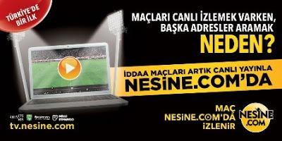 nesine.com ile canlı maç izle.      You will watch to live football match with nesine.com      http://ush.re/jffy