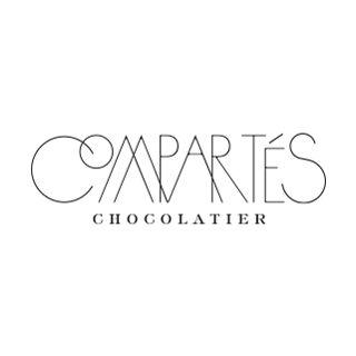コンパーテス・ショコラティエのロゴ:ザ・タイポグラフィ | ロゴストック