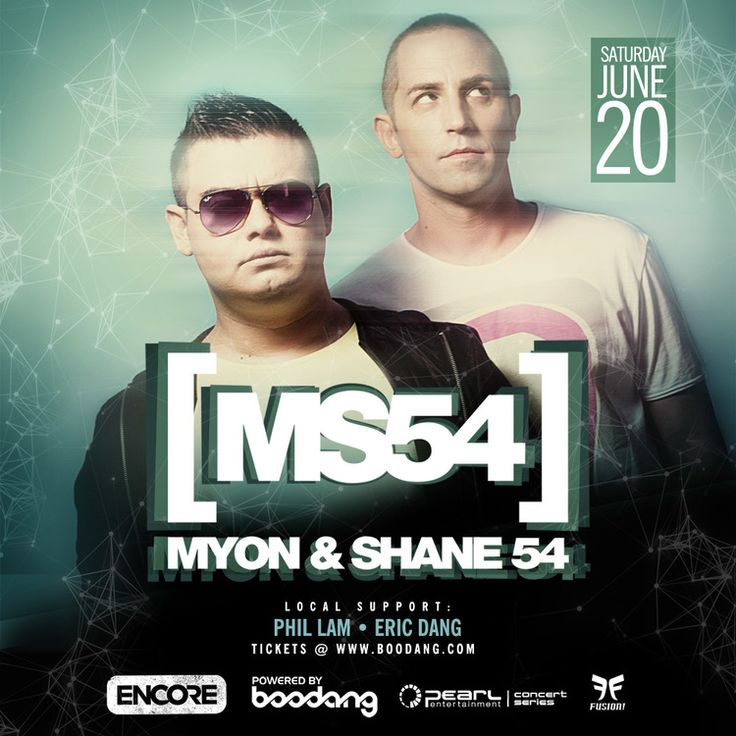 Saturday, June 20th - Myon & Shane 54 @ Encore — EDM Canada