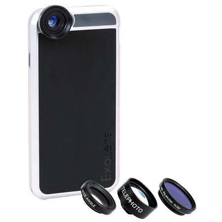 Image of 4x Lens Kit for iPhone 6/6s - iPhone Protective Case with 2-in-1 Wide-Angle Lens, Macro 13x Lens, and Telephoto Lens, Also Includes Polarizing Filter