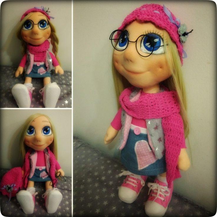 Blondýnka Růžovka moje nejnovější panenka - 45cm