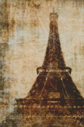 Photographic Art Print distressed Paris photo by TDMillerArtPrints