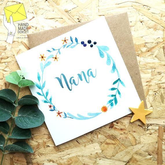 Nana S Birthday Cardcard For Nanananny Cardnanny Etsy Nana Birthday Cute Birthday Cards Cards