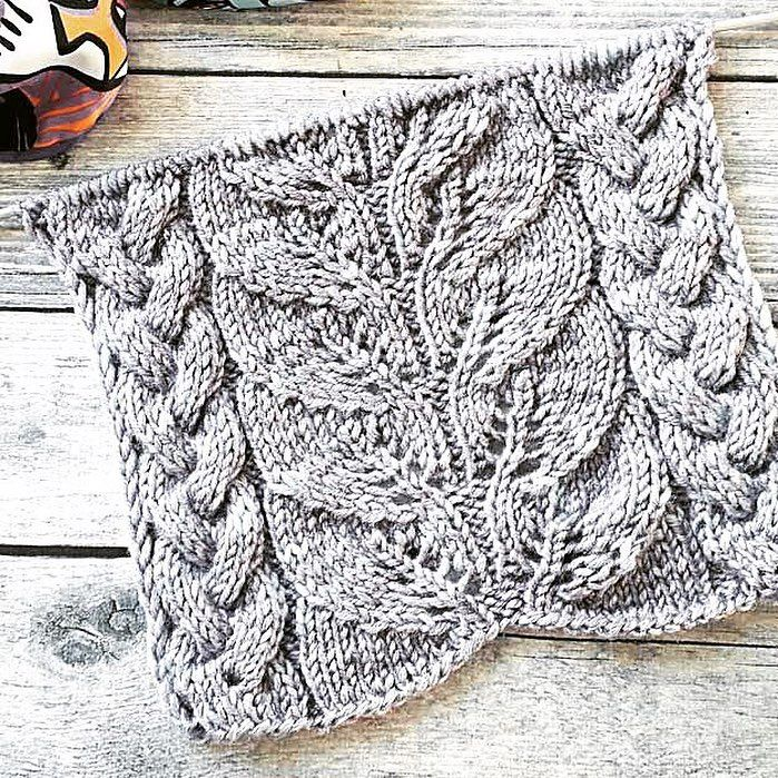 knitting stitches leaves
