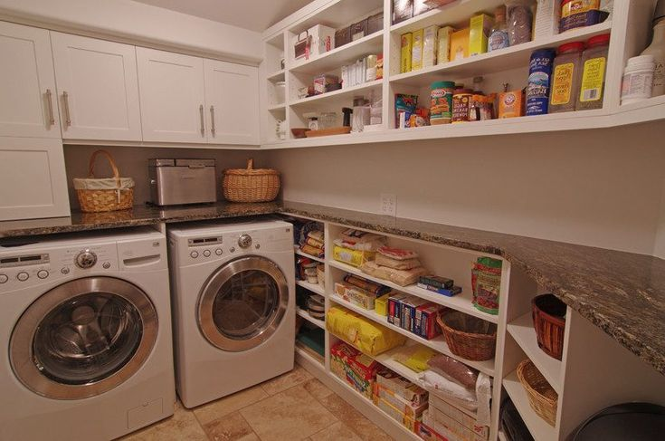 pantry and laundry room combos laundry room eclectic with