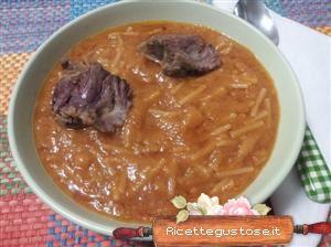 Ricetta zuppa coda di bue cavolini di bruxelles e radice amara di soncino