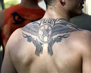 Upper Back Tribal Tattoo Design For Men  Desings Trendy