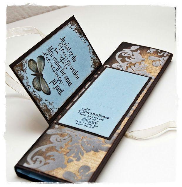 Gro's kort og sånnt: Sjokoladekort Inspiration, a card with chocolate.