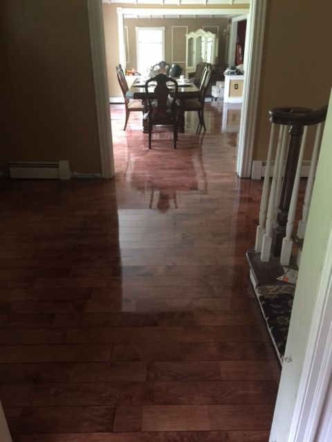 Finger Jointed Flooring : Hard maple quot finger jointed micro v groove flooring in