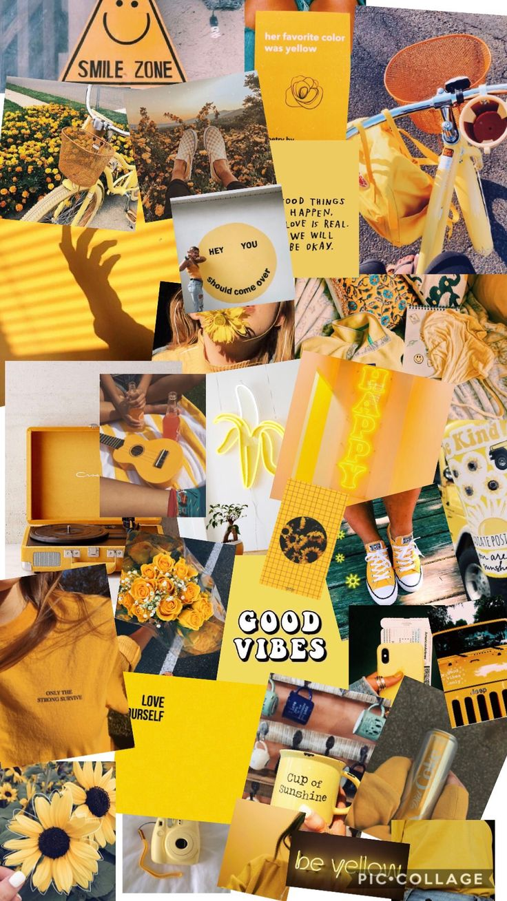 Cute Girly Wallpapers Pinterest Yellow Aesthetic Collage Made By Me If You Republish This