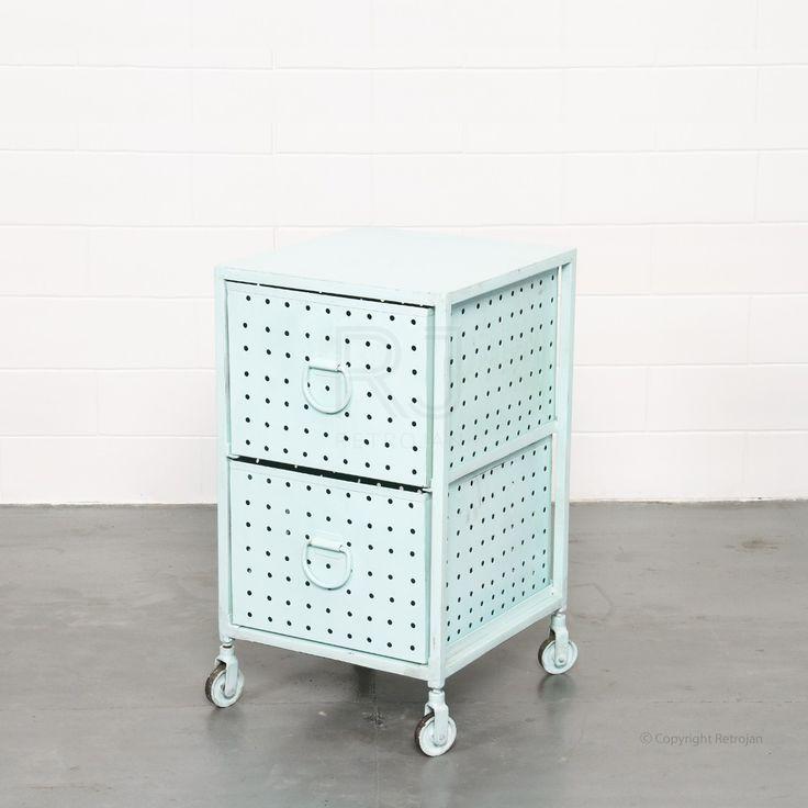 Melanie Industrial Cabinet - Blue - Storage