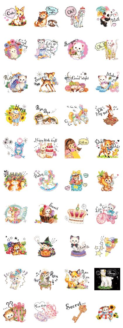 Sticker with the motif of a sweet smell is likely kittens and animals . Fluffy girl's mind tickle the communication .
