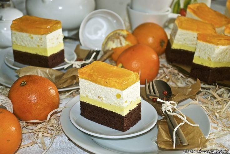 Ciasto pomarańczowo-mandarynkowe