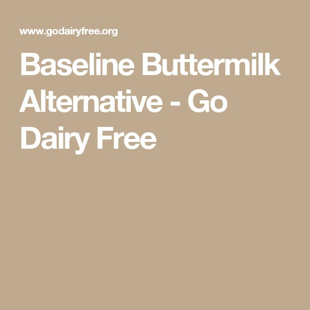 Baseline Buttermilk Alternative - Go Dairy Free