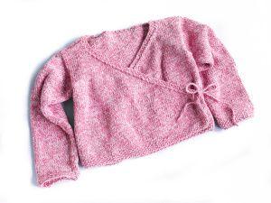 Free Knitting Pattern: Girl's Ballet Kimono  SKILL LEVEL:  Easy  SIZE: Varies  6-8 (9-10, 11-12) years