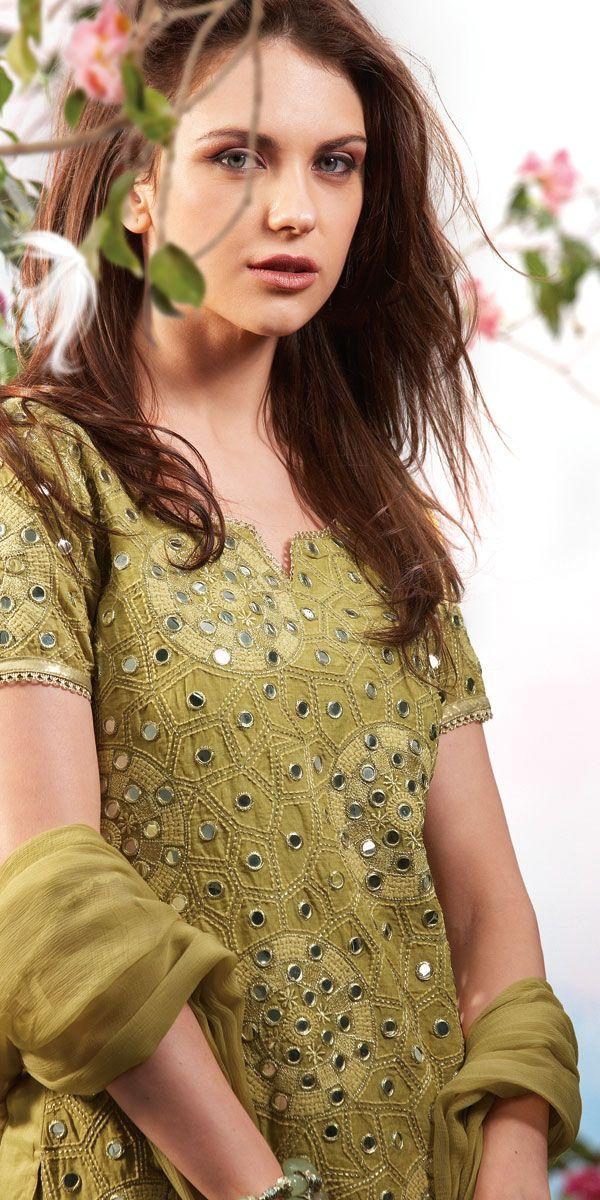 fnagri fashion week tv photos Shisha Work | Choridar Pajama | Embroided Qameez | Indian Trouser | Dupatta Salwar | Fashion With Desi Style