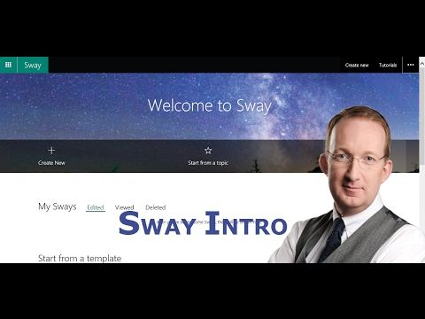 *Introduction to Microsoft Sway* Peter Kalmström gives an introduction to Sway - a Microsoft service that lets you create good-looking presentations but that also has its drawbacks: http://www.kalmstrom.com/Tips/Office-365-Course/Sway.htm