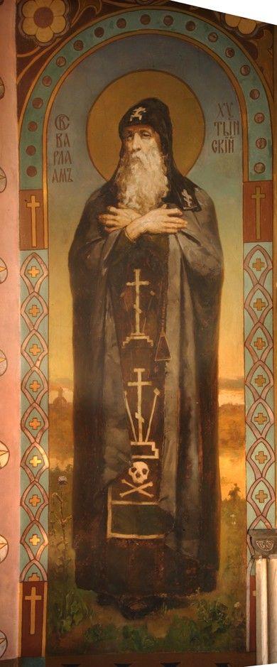Saint Barlaam of Khutyn   художник Viktor Michailowitsch Wasnezow