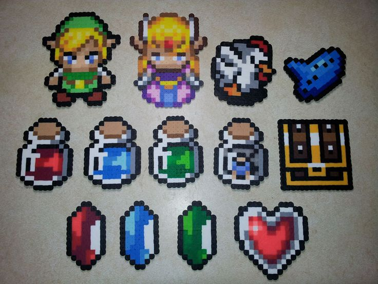 Legend of Zelda Perler Sprites from Rusted Icon Designs