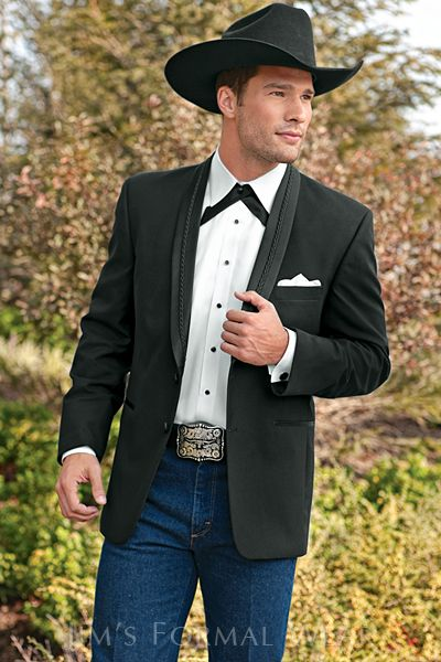 17 Best Images About Black Tuxedo Western Wedding Wear On Pinterest