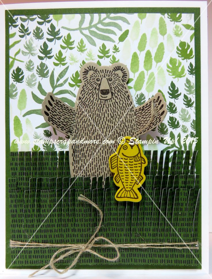 Stampin' Up! 2016 Occasions Catalogue.  Bear Hugs  Using the Bear Hugs stamp set and co-ordinating framelit. Stampin Up Bear Hugs #stampinup #bearhugs