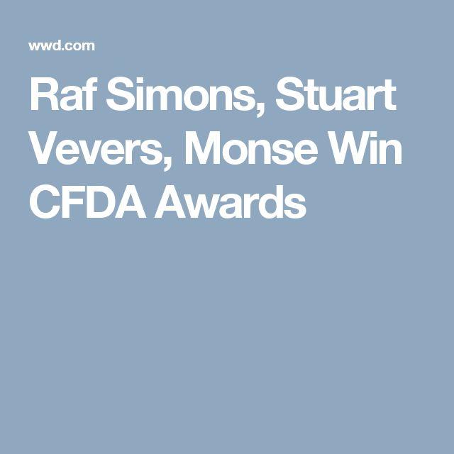 Raf Simons, Stuart Vevers, Monse Win CFDA Awards