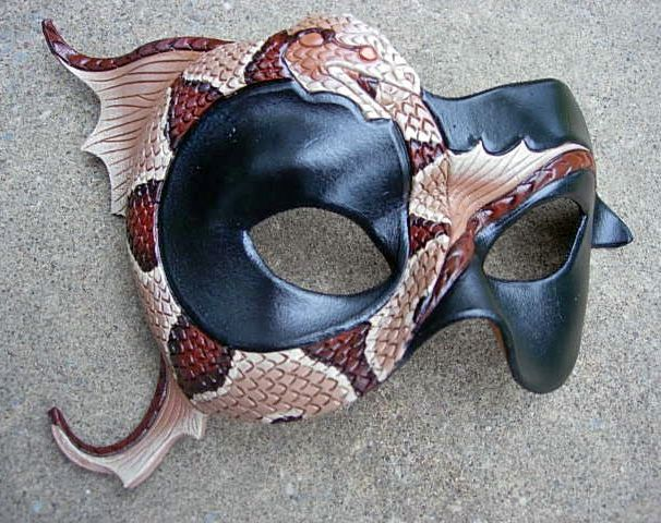 Ouroboros Mask, copperhead by merimask.deviantart.com on @deviantART