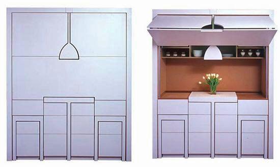 Компактная стенка для маленькой кухни