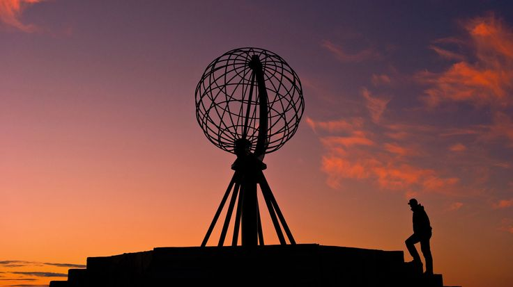 Lands of the midnight sun and polar night; North Cape,Norway