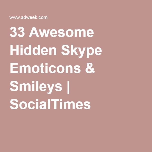 33 Awesome Hidden Skype Emoticons & Smileys | SocialTimes