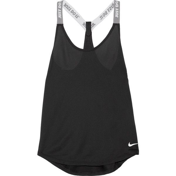 Nike Elastika stretch-jersey tank ($35) ❤ liked on Polyvore featuring activewear, activewear tops, nike, nike activewear, stretch jersey and nike sportswear