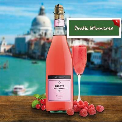 Dieser rosafarbene Prickler wird aus der in Venezien heimischen Raboso-Traube gewonnen.