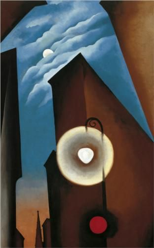 Georgia O'Keeffe ~ New York Street with Moon, 1925