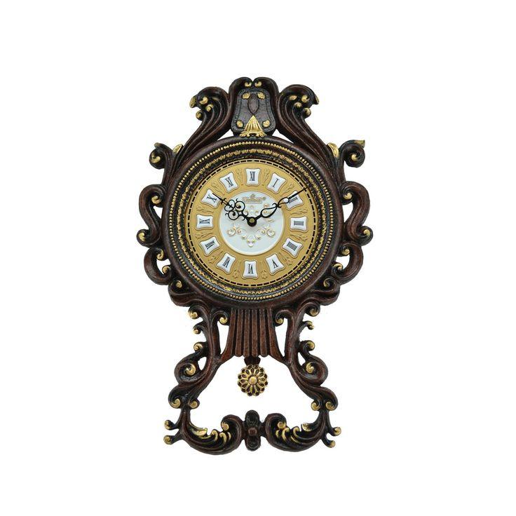 Antique Pendulum Wall Clock (23 x 14) - Overstock™ Shopping - Top Rated Wall Clocks