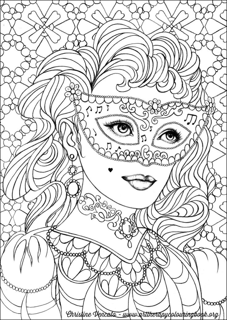 51 best Coloring pages to print - Carousel, mascarade images on ...