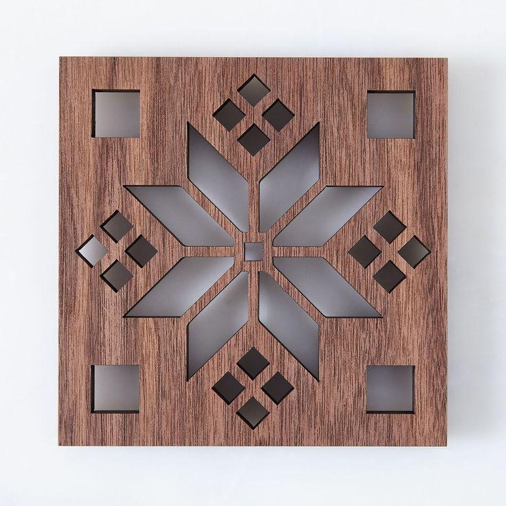 Laser-Cut Walnut Scandinavian Trivet on Food52