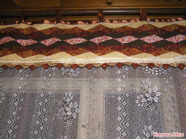 """Шторы лоскутные """"Мозаичный витраж"""" Источник: http://www.stranamam.ru/post/9283184/"""