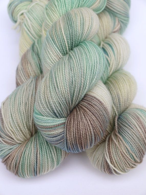 100% Superwash Merino, Hand Dyed Fingering/Sock Yarn, Soothing