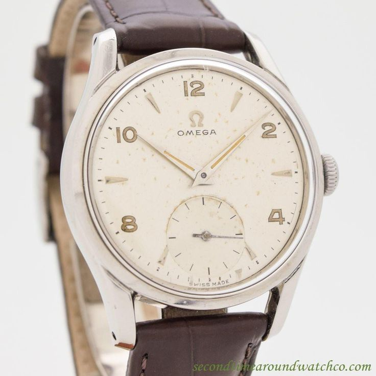 1950 Vintage Omega Ref. 2639-10 Stainless Steel Watch