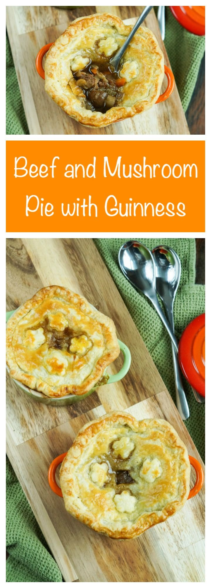 Beef and Mushroom Pie with Guinness from The Best of Irish Country Cooking
