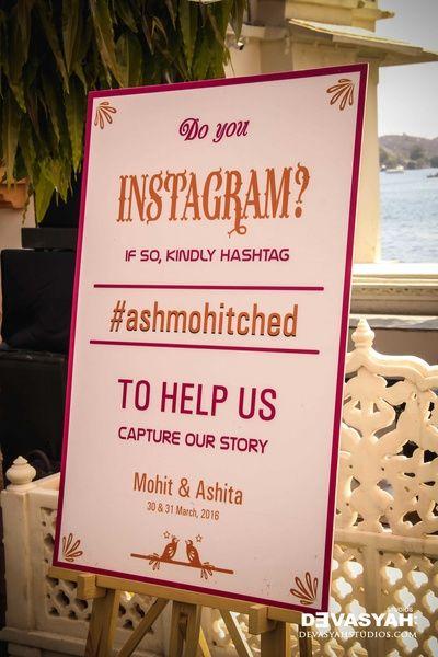 personalised message board, instagram hashtag, wedding instagram hashtag