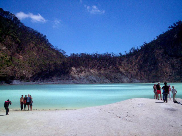 Good Nature tourism Crater Putih, Ciwidey Bandung, Indonesia