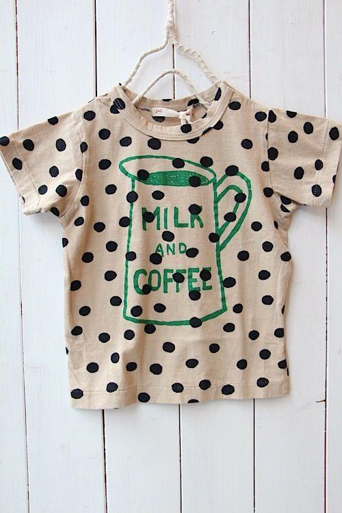 MILK DOT Tシャツ/ベージュ(12) - 100% picnic.