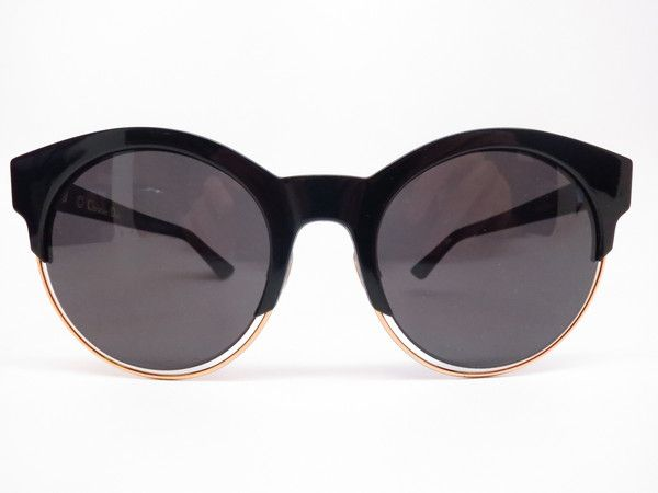 Dior Sideral 1 J63Y1 Black Rose Gold Round Womens Sunglasses - Add this one to your Wishlist! - Free United States S&H - Lowest Prices on Name Brand Fashion Eyewear Online