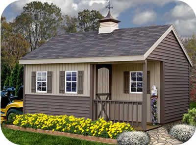 Shed With Porch Plans | ... 12x16 ezup prep for vinyl shed our stanford 12x16 storage sheds have a