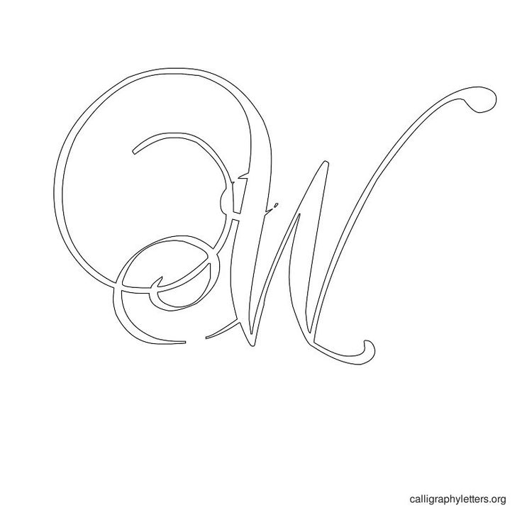 Free Printable Alphabet Stencils   Printable Calligraphy Letter Stencils   Calligraphy Letters Org