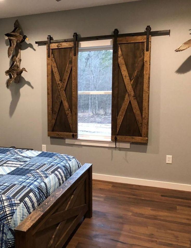 Interior window barn door